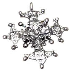 Sterling Silver Maltese Cross Pendent