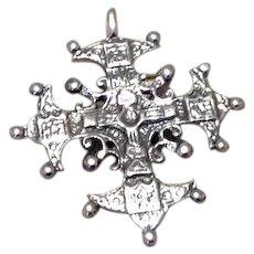 Sterling Silver Maltese Cross Pendent