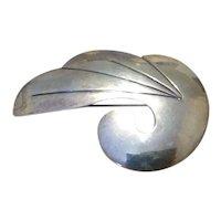 Sterling Silver Modernist G. Gomez Brooch