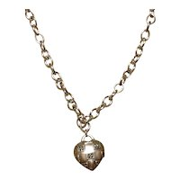 Sterling Judith Jack Heart Pendant Necklace