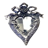 Silver Tone Photo Frame  Brooch