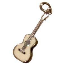 Sterling Enameled Guitar Charm