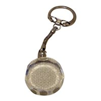 Silver Tone Lucite Crystal Key Chain