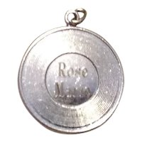 Sterling Silver Rose Marie Disk Charm