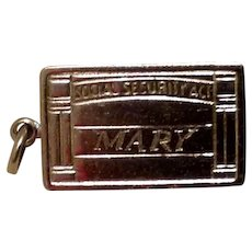 Sterling Social Security Charm