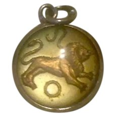 Sterling Leo The Lion Bubble Charm
