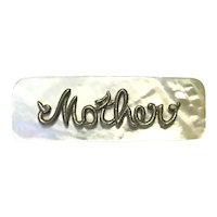 Mother Of Pearl MOTHER Name Brooch