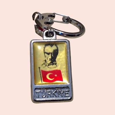 Turkiye Two Sided Key Chain