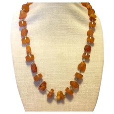 Natural Baltic Honey Amber Handmade Necklace