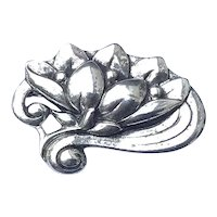 Sterling Danecraft Lily Pad Brooch