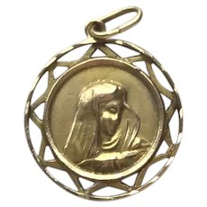 18K Gold Virgin Mary Taurus The Bull Zodiac Medal