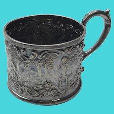 Wilcox Silverplate Heavy Repousse Mug