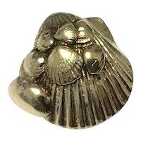Silver Gilt Sea Shell Brooch