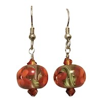 Christmas Red & Green Ball Dangle Earrings