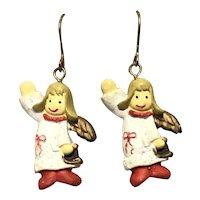 Christmas Choir Angel Dangle Earrings