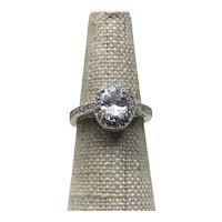 Sterling Silver CZ Ring Size 6