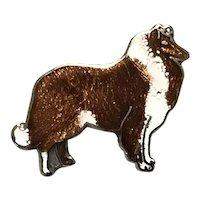 MAFCO Enameled Collie Dog Pin