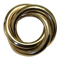 Gold Tone Circle Brooch