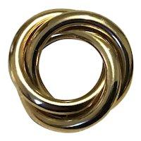 Gold Tone Circle Brooch