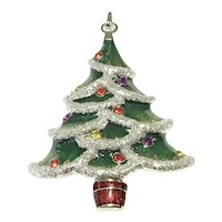 Large Sparkling Christmas Tree Brooch