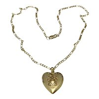 Military Gold Filled Locket & Chain