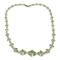 Light Green Faceted Crystal Necklace