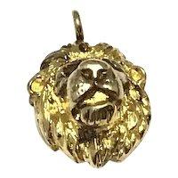 Silver Gilt Lions Head Pendant