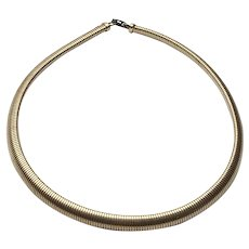 Antique Flexible 12K Gold Filled Snake Collar Necklace