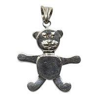 Sterling Silver Teddy Bear Pendant