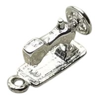 Sterling Silver 3D Sewing Machine Charm