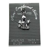 Sterling Silver Frog Charm NOS