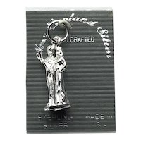 Sterling Silver Wedding Couple 3D Charm NOS