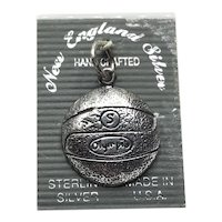 Sterling Silver Basketball Charm NOS
