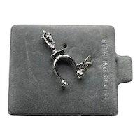 Sterling Silver Stirrup Charm NOS