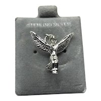 Sterling Silver Mexican Eagle Charm NOS