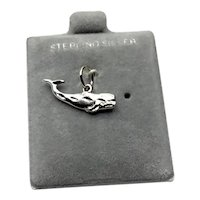 Sterling Silver Whale Charm NOS