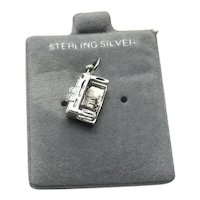 Sterling Silver Piano Charm NOS