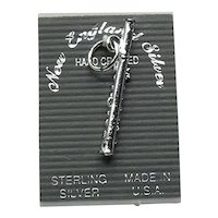 Sterling Silver Flute Charm NOS