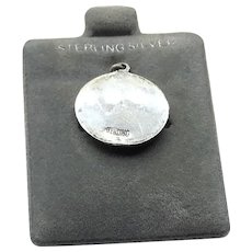 Sterling Silver Musical Note Disk Charm NOS