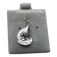 Sterling Silver Clam Shell Charm NOS