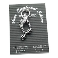 Sterling Silver Musical Note Charm NOS