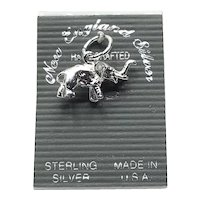Sterling Silver Elephant Charm NOS