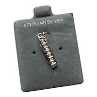 Sterling Silver Harmonica Charm NOS