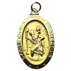 !4K Gold St. Christopher Medal