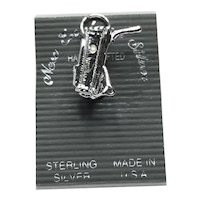Sterling Silver Walking Golf Cart Charm NOS