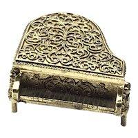 Avon Gold Tone Perfume Glaze Piano Holder Compact