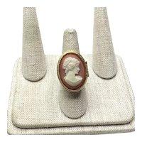Avon Faux Cameo Perfume Glaze Ring Size 7 1/2