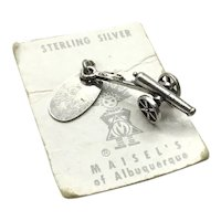 Sterling Silver Canon Charm With Hang Tag