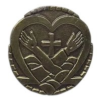 Gold Tone Religious Lapel Pin