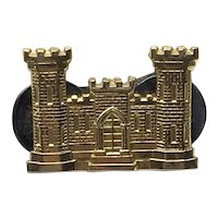 10K Gold Filled U. S. Army Corps. Of Engineers Lapel Pin Balfour